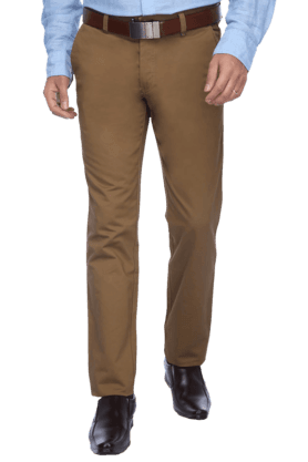 LOUIS PHILIPPE SPORTS Mens Flat Front Slim Fit Solid Chinos - 9457984