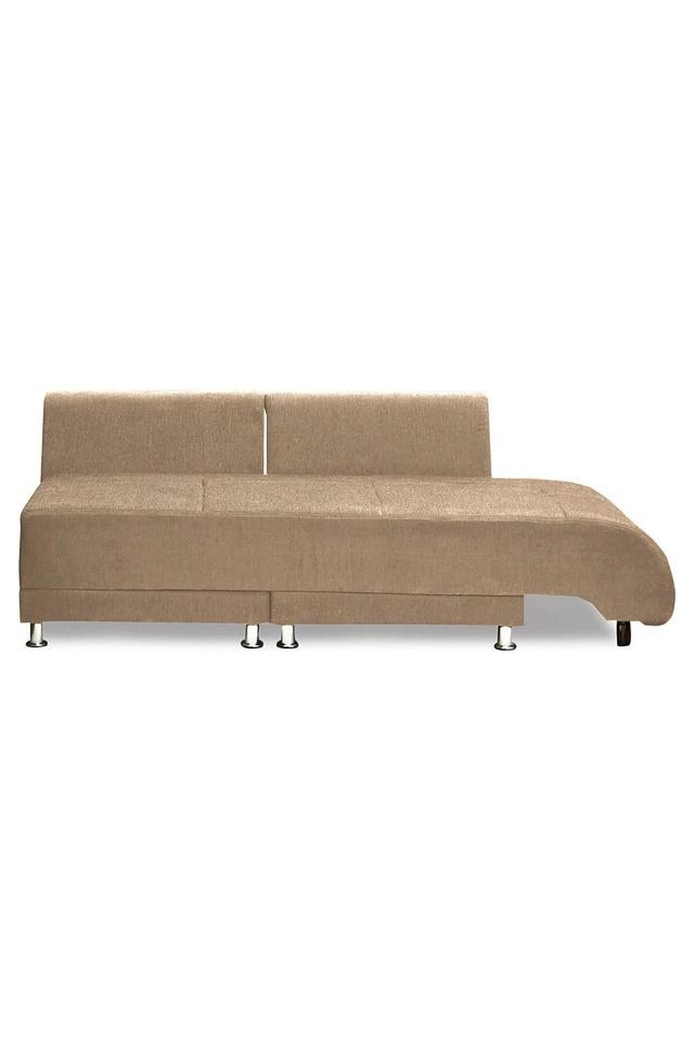 Chestnut Brown Fabric Sectional Sofa Bed (3 - Seater)
