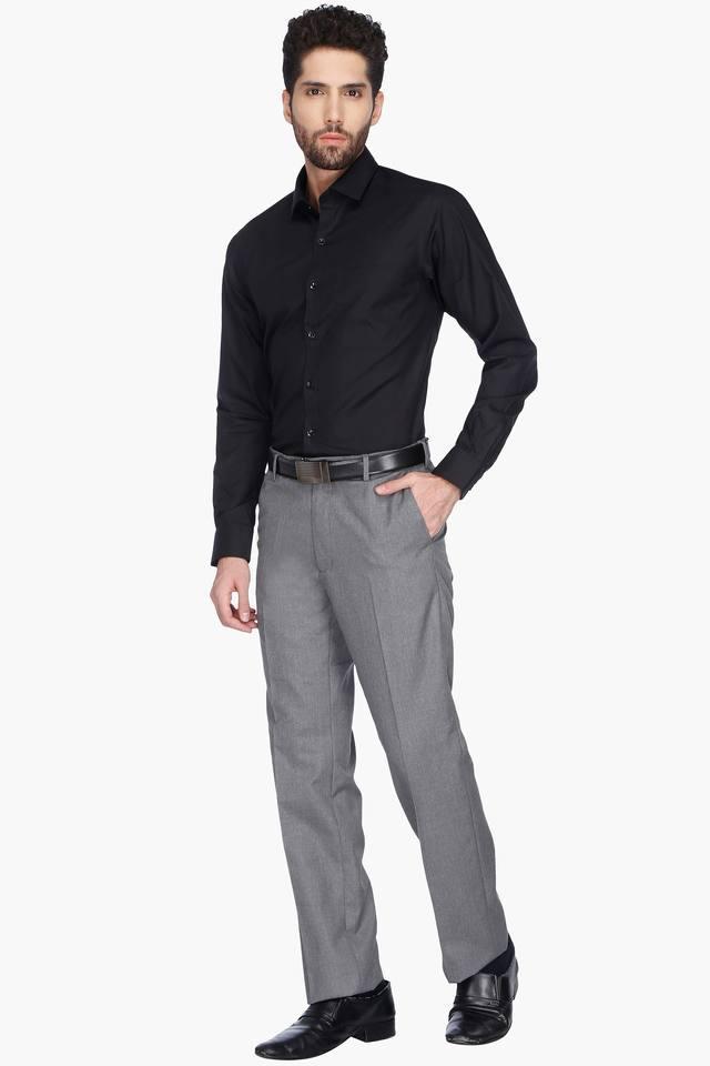 Mens Slub Formal Trousers