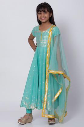BIBA GIRLS - TurquoiseSalwar Kurta Set - 2