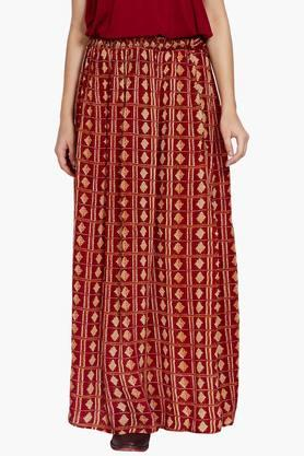 LABEL RITU KUMAR Womens Printed Long Skirt - 202195005
