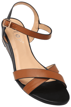 STOPWomens Daily Wear Ankle Buckle Closure Wedge Sandal - 9978220