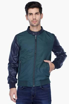 UNITED COLORS OF BENETTON Mens Regular Fit Colour Block Jacket