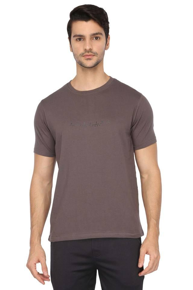 Mens Round Neck Solid and Slub T-Shirt Pack of 3