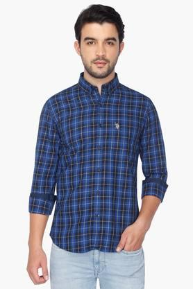 U.s. Polo Assn. Formal Shirts (Men's) - Mens Full Sleeves Casual Check Shirt