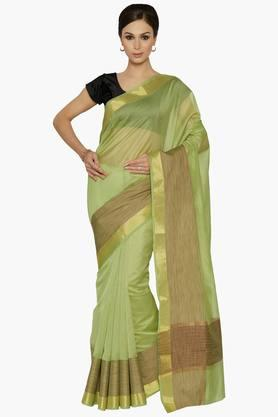 Women Chanderi Saree With Zari Border