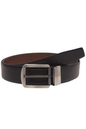 VAN HEUSEN Mens Black Leather Formal Belt