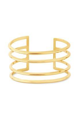Womens Brass Line Cuff Bracelet