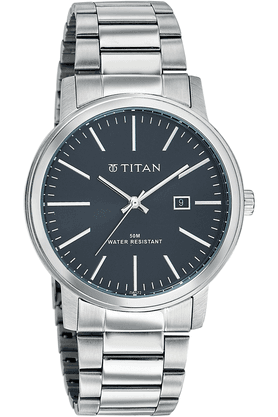 TITAN Mens Watch With Metallic Strap - Formal Steel Collection - NE9440SM02J