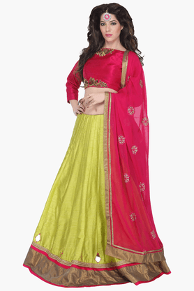 JASHN Womens Solid Lehenga Choli Set