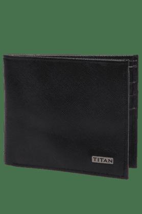 TITANMens Black Leather Bifold Wallet - 9448720