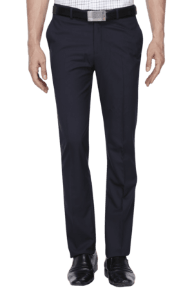 BLACKBERRYS Mens Slim Fit Solid Formal Trousers - 200889281