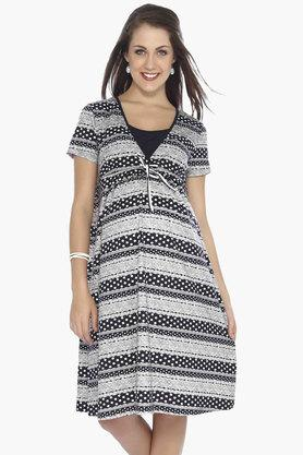 NINE MATERNITY Maternity Nursing Dress - 201716350