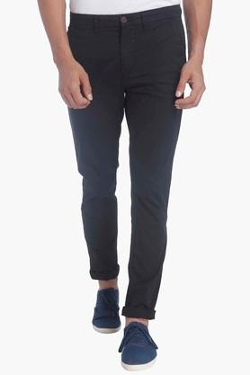 JACK AND JONES Mens Slim Fit Solid Casual Trousers