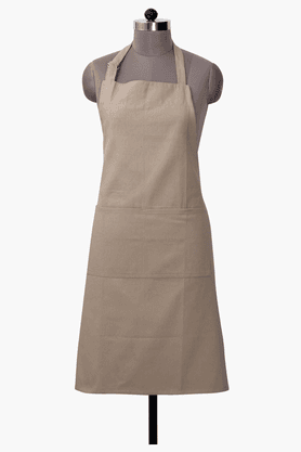 MASPAR Solid Shanil Beige Apron - Set Of 2