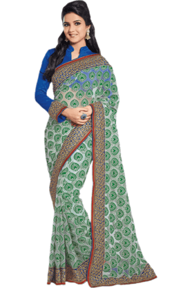 DEMARCA Womens Embroidered Saree (Buy Any Demarca Product & Get A Pair Of Matching Earrings Free) - 200946958