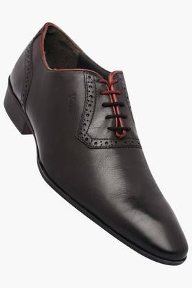 VENTURINIMens Leather Lace Up Oxford Shoes