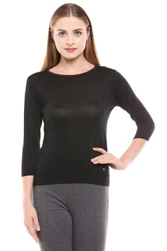 ALLEN SOLLY -  Black Tops & Tees - Main