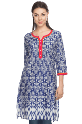 STOP Womens Sleeveless Printed Kurta