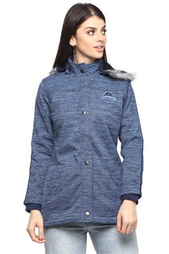 Womens Hooded Neck Slub Jacket