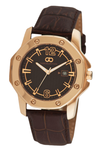 Dark Brown Dial Rose Gold Case Mens Watch - G1004-02