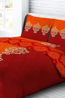 TANGERINE Cotton Printed Double Bedsheet And Pillow Set - 200456803