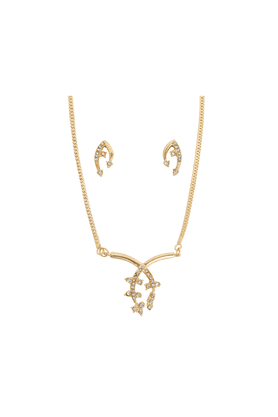 TOUCHSTONE Necklace Set -Mangalsutra Style - 8616275