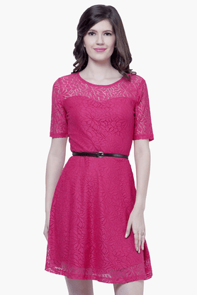 Womens Lace Skater Dress