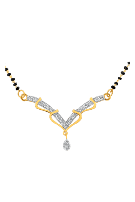 MAHI Mahi Daily Wear Fashion Mangalsutra Set Of Brass Alloy With CZ For Women NL1101438G (Use Code FB15 To Get 15% Off On Purchase Of Rs.1200)