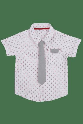 Boys Printed Collared Shirt