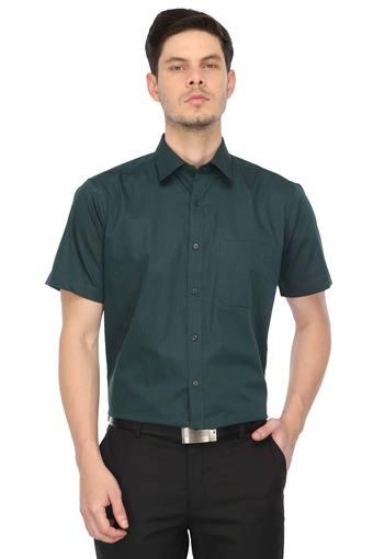 RAYMOND -  Dark Green Shirts - Main