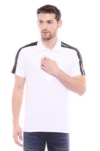 CALVIN KLEIN JEANS -  WhiteT-Shirts & Polos - Main