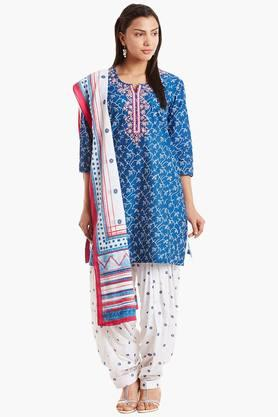 BIBA Womens Cotton Straight Suit Set - 202179809
