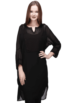 STOP Women Georgette Lace Tunic