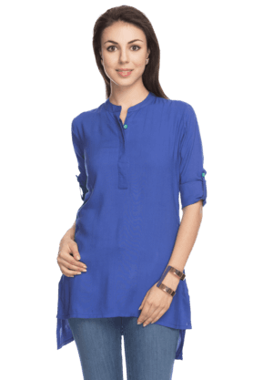 HAUTE CURRY Womens High-Low Kurti