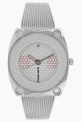 Fastrack Womens Silver Dial Stainless Steel Strap Watch image