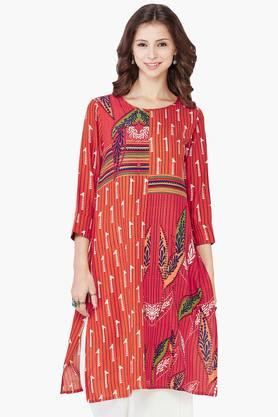 GLOBAL DESI Women Giraffe And Leaf Print Kurta