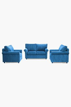 Persian Blue Fabric Sofa (2-1-1 Sofa Set)