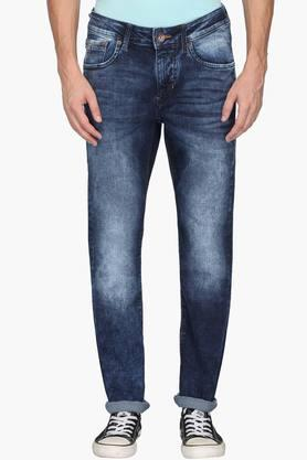 FLYING MACHINE Mens Skinny Fit 5 Pocket Stone Wash Jeans (Jackson Fit)