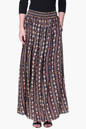 LABEL RITU KUMAR Womens Printed Long Skirt