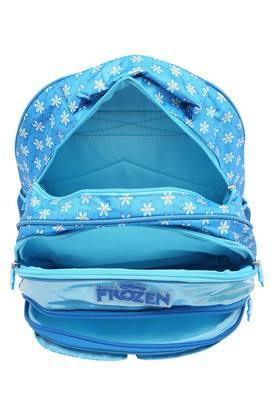 Girls Frozen Ice Magic Flap Zip Closure School Bag