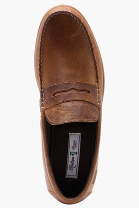 Mens Leather Slip On Casual Loafers