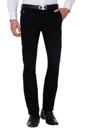 INDIAN TERRAIN Mens Slim Fit Solid Chinos - 200699361