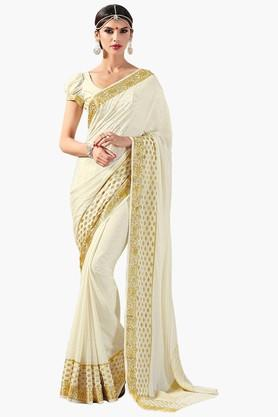 ASHIKAWomens Golden Weave Silk Saree