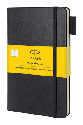 PARKER Standard Large Notebook With Yellow Sleeve