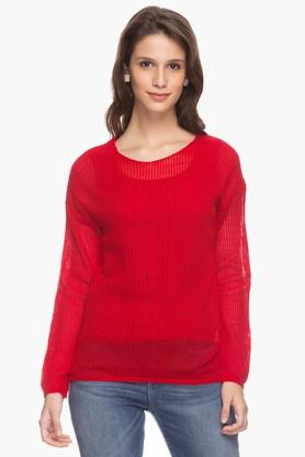 ELLE Womens Solid Knitted Top - 201369902