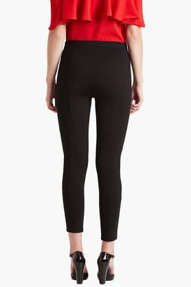 Womens 2 Pocket Solid Treggings