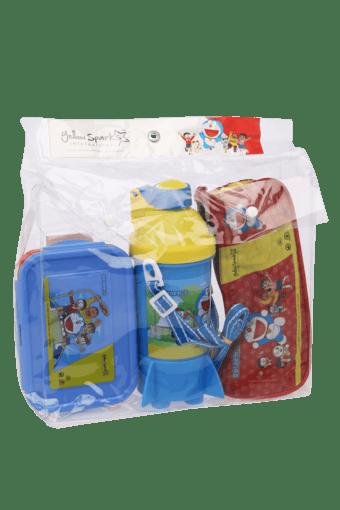 Unisex Doraemon Tiffin Box Water Bottle and Pencil Bag Combo Set ...