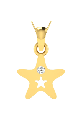 SPARKLESHis & Her Collection 18 Kt Pendant In Gold & Real Diamond HHPXP9500