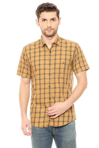 LOUIS PHILIPPE SPORTS -  Ochre Casual Shirts - Main